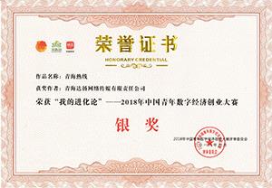 2018年中国青年数字经济创业大赛银奖
